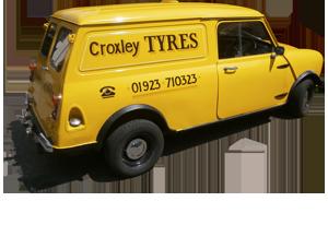 Croxley Tyres van